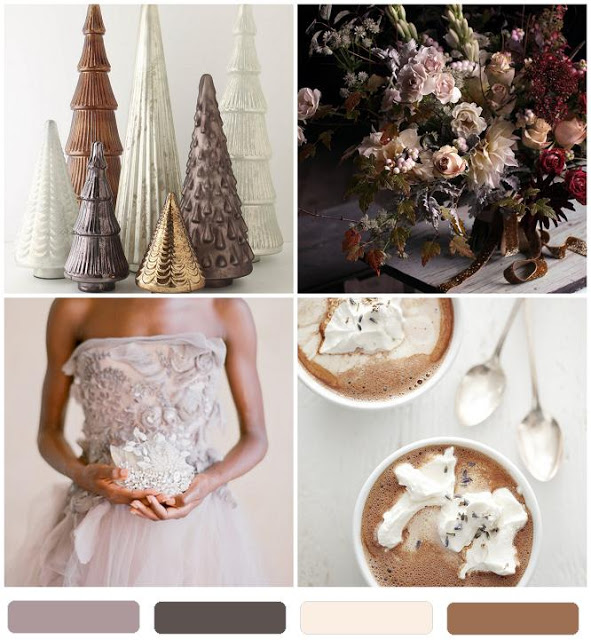 hot chocolate & lavender pretty wedding palette